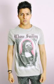 Whose Smiling Now Mona Lisa Print Tee
